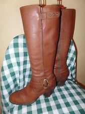 "17""  BORN Brown Leather Knee High Boots  Size 7.5 / 38.5 17"" Tall"