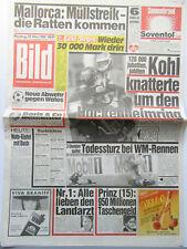 Bild Zeitung vom 29.5.1989, Simple Minds, Schwarzenegger, Liz Taylor