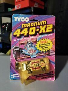 Tyco Magnum 440-X2 Indy Texaco Star #1 white/red/blue nos rare htf moc original.