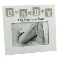 """""""Baby is my brand new love"""" - Unisex Tile Photo Frame"""