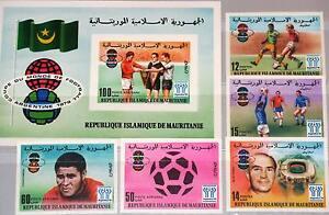 MAURITANIA MAURETANIEN 1977 584-88 Block 19 U Soccer World Cup 1978 Fußball MNH