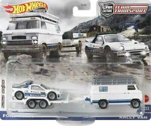 Hot Wheels Team Transport Ford RS200 Rally Van
