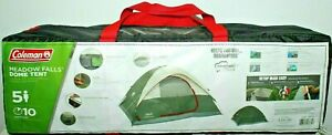 COLEMAN MEADOW FALLS DOME TENT 5 FT FIVE PERSON EASY SET UP NEW