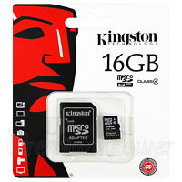 Kingston micro SDHC 16GB Memory card Class 4 Flash 4MB/s with Adapter GENUINE
