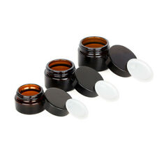1-10PCS 5-50g Glass Cosmetic Face Cream Lip Balm Sample Container Jar Pot UK