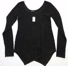 WOMENS black glitter scoop neck SWEATER = EXPRESS = SMALL = ab23