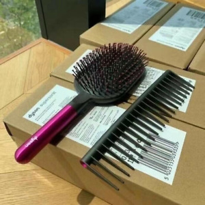 New Dyson Supersonic Comb and Paddle Brush Styling Set Fuchsia/Nickel