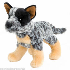 "CLANGER Douglas 7"" plush AUSTRALIAN CATTLE DOG stuffed animal toy black tan"