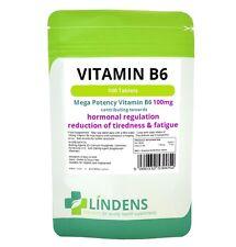 Lindens Vitamina B6 100mg 100 comprimidos por día 1 B-6 B 6