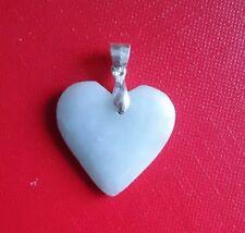 Jadeit A Jade Anhänger Herz mit Silber 925 Anhänger