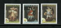 S23659) Bolivia 2000 MNH Christmas Angels From Calamarca 3v