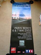 AFFICHE ORIGINALE SUPERTRAMP CONCERT du 6mai 2002 PARIS BERCY 155X58cm