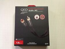 QED PERFORMANCE AUDIO 40  1.0 Metre 5 STAR***** What HiFi Analogue Interconnect