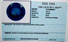 EGL USA CERTIFIED NATURAL SAPPHIRE BLUE ROUND SHAPE 0.58 CT GENUINE GEMSTONE