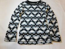 The Children's Place Girl's Long Sleeve Waffle Shirt Black Hearts Size Variation