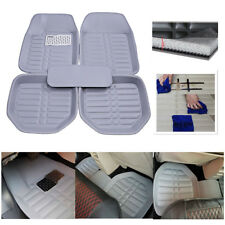 5pcs Car  FloorLiner Front Rear Floor Mats Waterproof  Carpet All Weather Gray