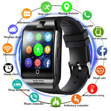 Q18 Bluetooth Smart Watch TF/SIM Camera GSM Phone for Android Black USA SELLER