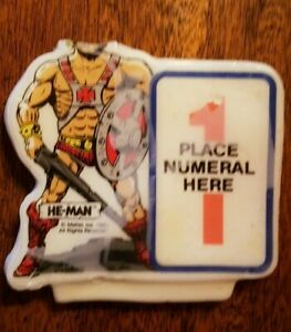 Vintage - HE-MAN Masters of the Universe - Cake Topper Birthday Candle - 1984