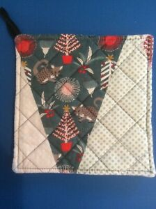 Quilted Pot Holder - Aussie Christmas #7