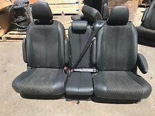 NEW 2011-2017 TOYOTA SIENNA VAN BLACK LEATHER CLOTH 2ND ROW BUCKET BENCH SEATS