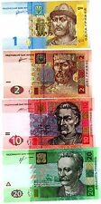 LOT SET SERIE 4 Billets Ukraine HRYVNIA 2011 - 2015  EGLISE NEUF UNC
