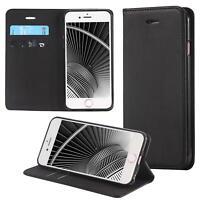 Custodia per Apple iPhone 6 6S (4,7) Cover Case Portafoglio Wallet Etui Nero