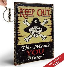 KEEP OUT PIRATE SIGN POSTER 30X21cm Retro Vintage Photo Print Door Wall Art Deco