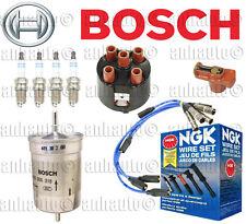 VW Cabrio Golf Jetta Passat KIT Bosch Cap Rotor Plugs Fuel Filter / NGK Wire Set