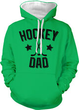 Hockey Dad Father Puck Ice Rink Helmet Team Supporter Son 2-tone Hoodie Pullover