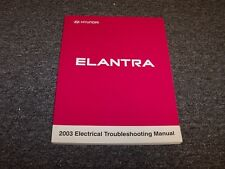 2003 Hyundai Elantra Sedan Electrical Wiring Diagram Manual Book GLS GT 2.0L