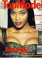 NAOMI CAMPBELL Elle Top Model Magazine 1994 #3 CLAUDIA SCHIFFER ELLE MACPHERSON