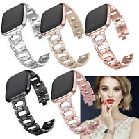 Fasion Bling Rhinestone Stainless Steel Watch Wrist Band Strap for Fitbit Versa