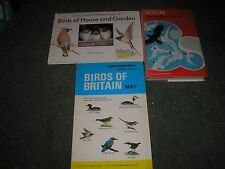 LOT 2 BOOKS BIRDS by CHRISTOPHER PERRIN & BIRDS OF HOUSE & GARDEN +BIRDS MAP