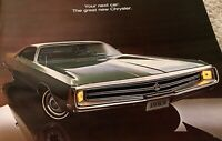 Vintage 60s Chrysler Color Automobile Car Catalog Brochure Mid Century Modern