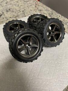 Traxxas Mini E-Revo VXL 1/16 Scale Talon Sportraxx Tires 12mm Hex Wheels
