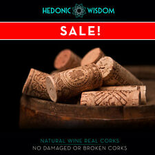 NATURAL WINE CORKS - for weddings, decor, crafts, fishing, craft. Fast Dispatch