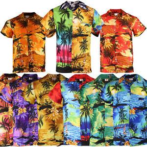 HAWAIIAN SHIRT MENS STAG BEACH PALM TREE STAG PARTY LARGE ALOHA HAWAII S XL XXL