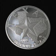 2018 Silver Round Coin Texas Precious Metals 1 Troy Oz .9999 Fine Silver