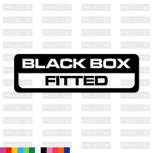 BLACK BOX FITTED Learner Funny New Driver Window/Car/Van Decal Sticker 070