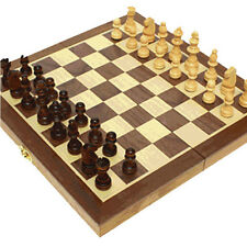 Wooden Chess Set Chessman with Board 12Inch Folding Magnetic Chess Boys & Girls