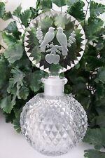 "RARE Vintage Czech Perfume Scent Bottle~""Love Birds""~Dauber Intact~Signed~MINT"