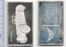 lingot d argent les voitures du Monde ( 1931 Invicta  - 025 )