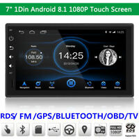 """7"""" Single 1Din Android 8.1 Touch Screen HD 1080P FM Car Stereo Radio GPS Wifi"""