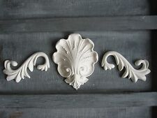 SHABBY CHIC DECORATIVE CENTER PIECE OPAQUE/ SCROLL/  FURNITURE /MIRROR  MOULDING