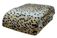 Queen King Cheetah Leopard Soft Bed Lounge Sofa Throw Rug Blanket 240x260cm