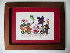 Everybody loves a parade Completed Cross Stitch Framed Animals Baby Nursery