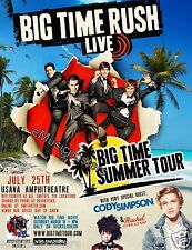 "BIG TIME RUSH /CODY SIMPSON ""BIG TIME SUMMER TOUR"" 2012 SALT LAKE CONCERT POSTER"