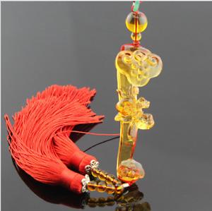 Liuli Crystal Ru Yi Car Hanging Ornament Feng Shui Fortune Peace Gift