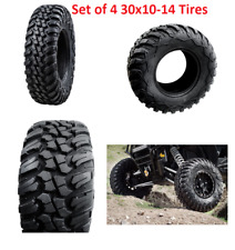 Tusk Terrabite Radial ATV UTV Tire Kit 30 x 10 14 Set Of Four 4 Tires 30x10-14