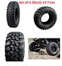 Tusk Terrabite Radial ATV UTV Tire Kit 30 x 10 14 Set Of Four 4 Tires 30x10-14